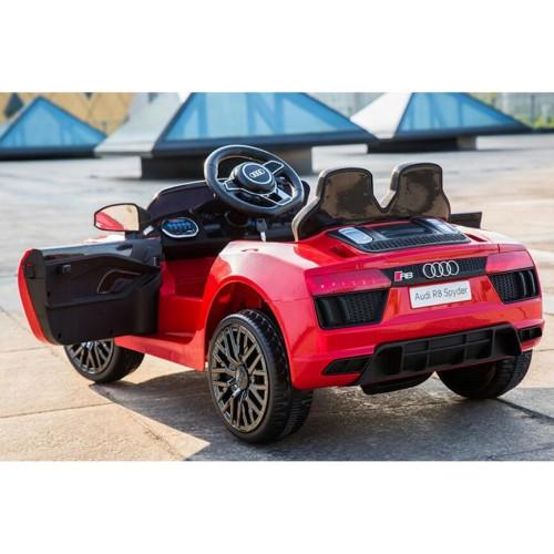 Ηλεκτροκίνητο Αυτοκίνητο Licensed Original Audi R8 Spyder με MP3 και τηλεχειριστήριο 12V Κόκκινο JJ2198