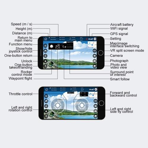 NO.LH-X - GPS Drone με κάμερα 720p - WiFi - Με Αυτόματη Επιστροφή -  2.4 Ghz Και χρήση Μέσω Εφαρμογής Σε Κινητά   LH-X38G