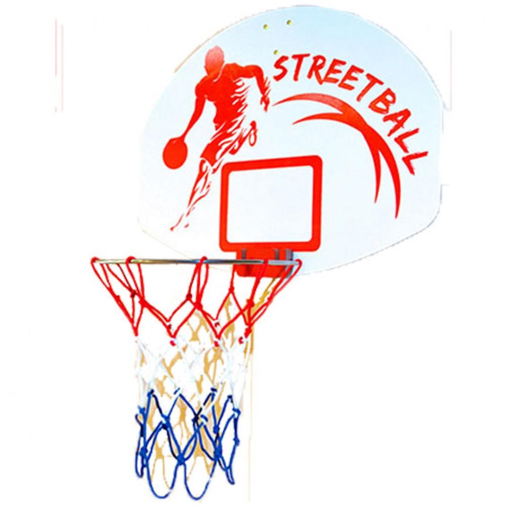 Πλαστική Μπασκέτα StreetBall με Δίχτυ Μπλε 225