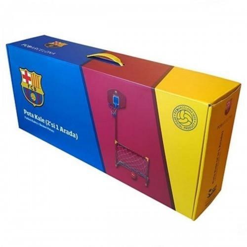 Πλαστική Μπασκέτα FCBarcelona με δίχτυ για ποδόσφαιρο Κόκκινο 821