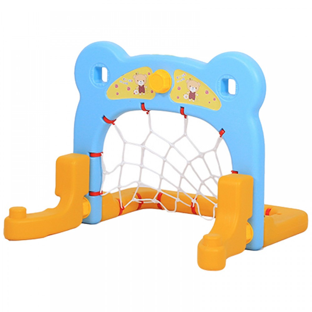 Πλαστικό Ποδόσφαιρο Bear με δίχτυ Μπλε QJ01-BLU