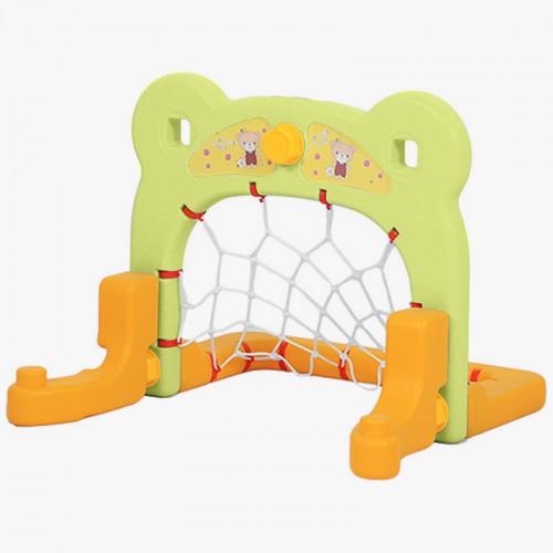 Πλαστικό Ποδόσφαιρο Bear με δίχτυ Πράσινο QJ01-GRN