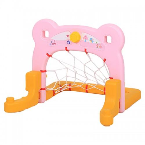 Πλαστικό Ποδόσφαιρο Bear με δίχτυ Ροζ QJ01-PN