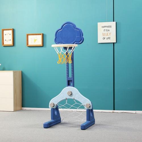 Πλαστική Μπασκέτα Σύννεφο με Δίχτυ για Μπάσκετ και δίχτυ για ποδόσφαιρο Μπλε QJ14-BL