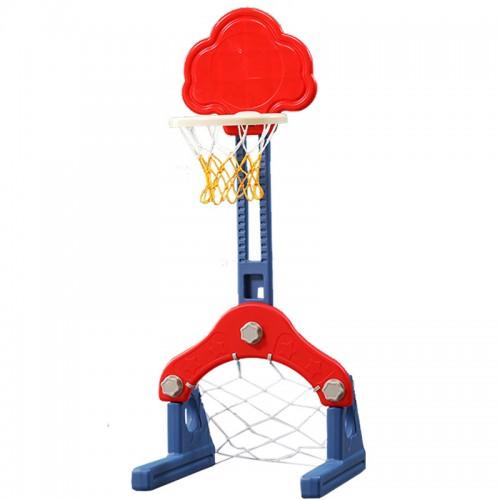 Πλαστική Μπασκέτα Σύννεφο με Δίχτυ για Μπάσκετ και δίχτυ για ποδόσφαιρο Κόκκινο QJ14-RD