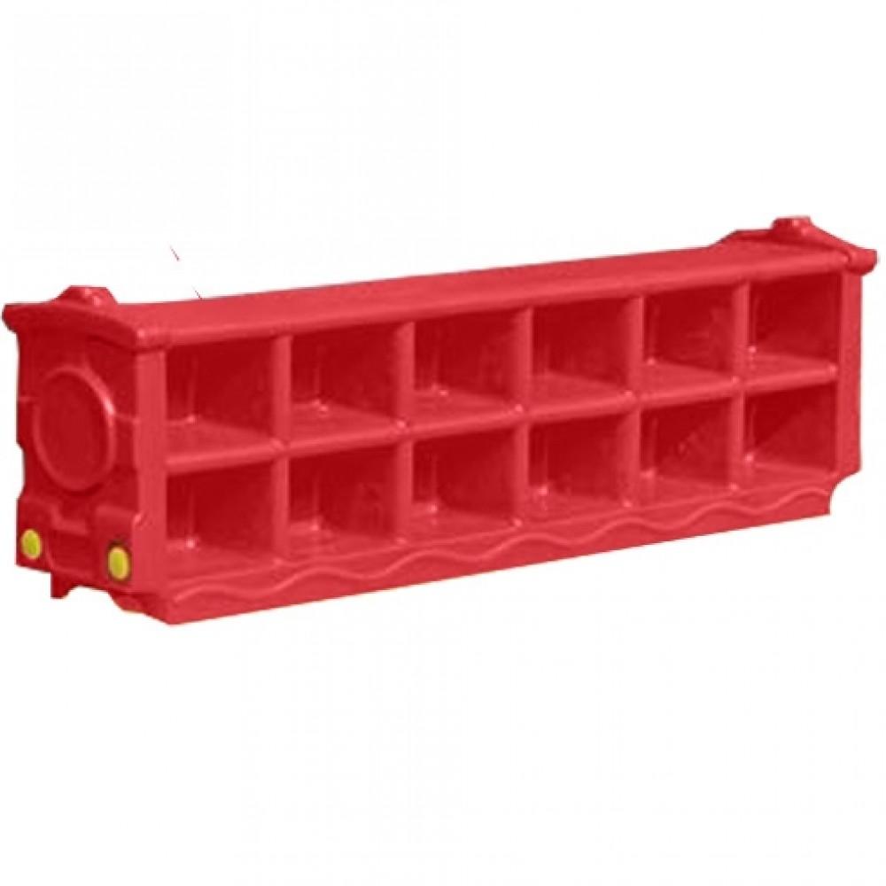 Πλαστική Παιδική Παπουτσοθήκη για Παπούτσια (120 x 38 x 25 cm)  Κόκκινο XJ01-RD