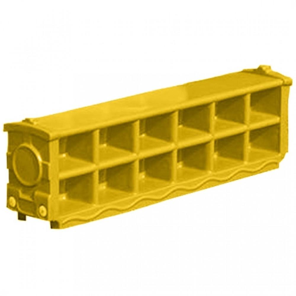 Πλαστική Παιδική Παπουτσοθήκη για Παπούτσια (120 x 38 x 25 cm)  Κίτρινο XJ01-YL