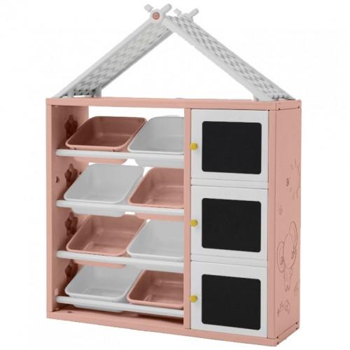 Πλαστική Σύνθεση 2 σε 1 ταξινόμησης παιχνιδιών και ντουλάπα Ροζ 40982-PN