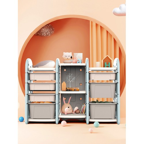 Πλαστική Βιβλιοθήκη για βιβλία και Παιχνίδια Μπλε SNJ11-BLU