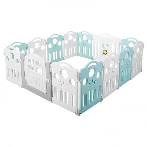 Πλαστικός Παιδότοπος Φράχτη Παιχνιδιού Crown Βεραμάν WL37-VRM
