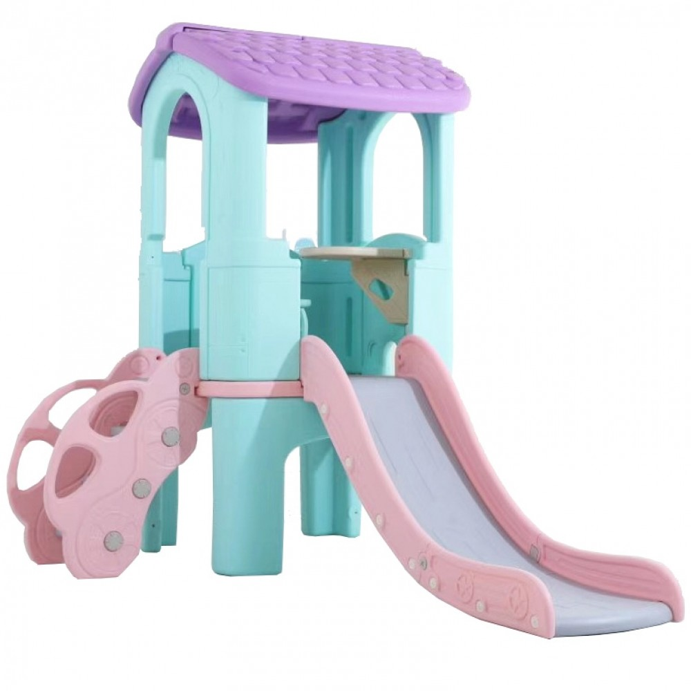 Πλαστικός Παιδότοπος με τσουλήθρα και Σκαλιά Βεραμάν Τιρκουάζ 0352-TUR