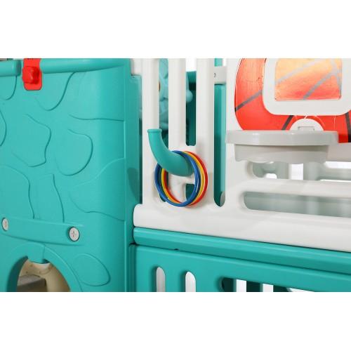 Πλαστικός Παιδότοπος με τσουλήθρα, Δίχτυ Μπάσκετ και Ποδοσφαίρου Βεραμάν 0352R