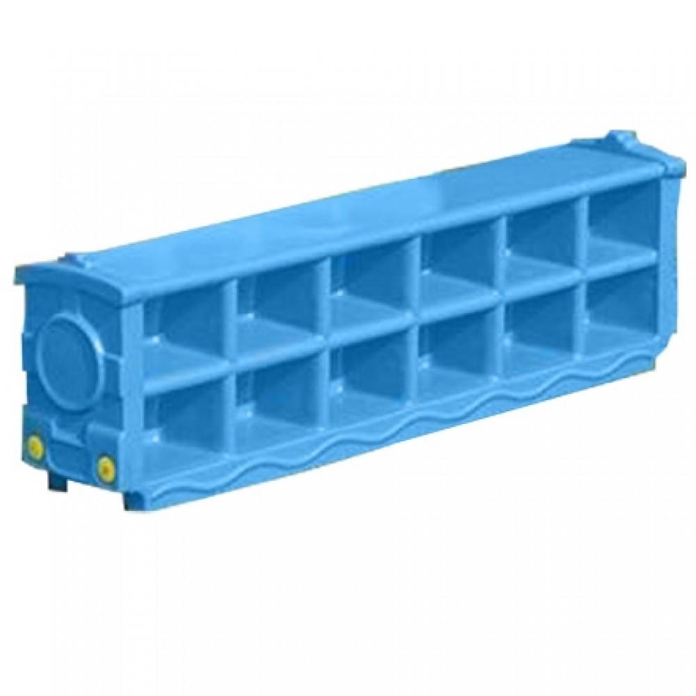 Πλαστική Παιδική Παπουτσοθήκη για Παπούτσια (120 x 34 x 23 cm) Μπλε XJ01-BLU