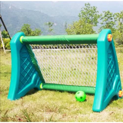 Πλαστικό Ποδόσφαιρο Football Stand με δίχτυ Μπλε - Πράσινο 0323