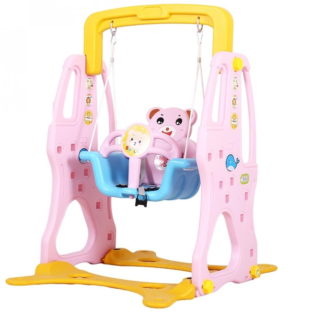 Πλαστική Κούνια Αρκουδάκι Ροζ Q01-PN