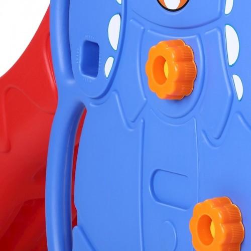 Πλαστική Διπλή Τσουλήθρα Elephant 5 σε 1 με Κούνια , Δίχτυ για μπάσκετ Μπλε 148-1
