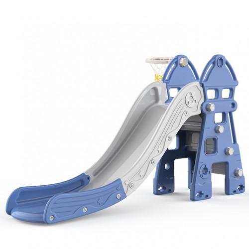 Πλαστική Τσουλήθρα Castle Μπλε DT02-BL