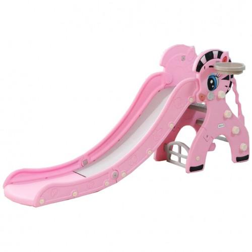Πλαστική Τσουλήθρα Zebra Ροζ T630-PN