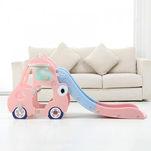 Πλαστική Τσουλήθρα Αυτοκινητάκι με μπασκέτα Ροζ CC01-PN