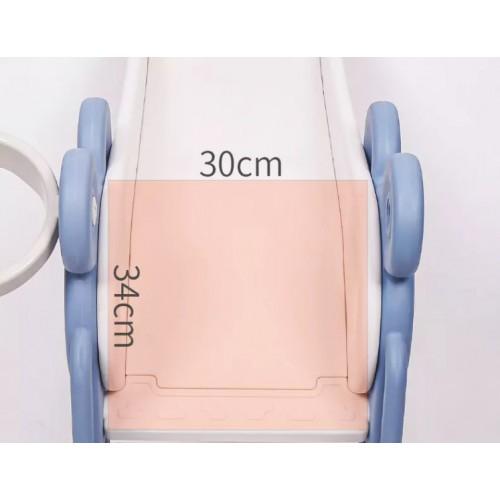Πλαστική Τσουλήθρα Fun Μπλε QS03-2-BLU