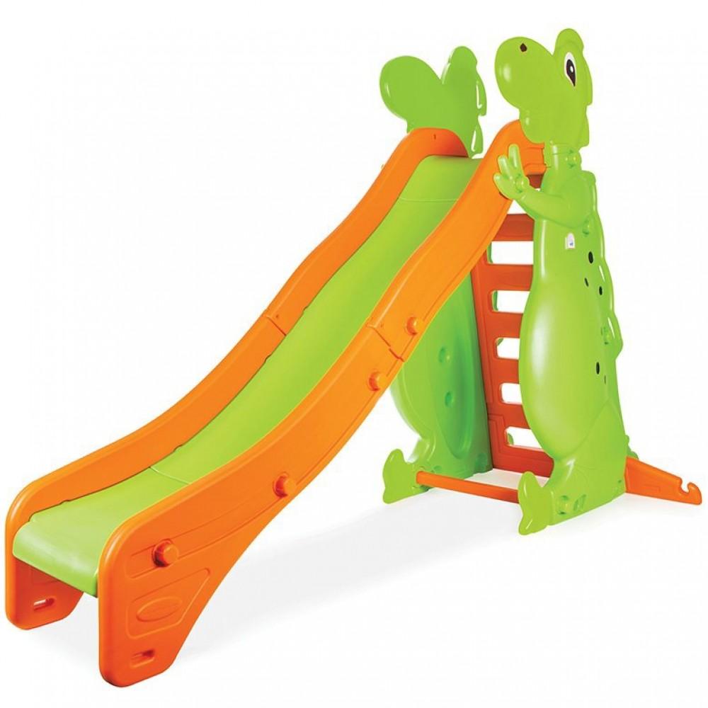 Pilsan - Πλαστική Τσουλήθρα Big Dino Πράσινο - Πορτοκαλί PL-959