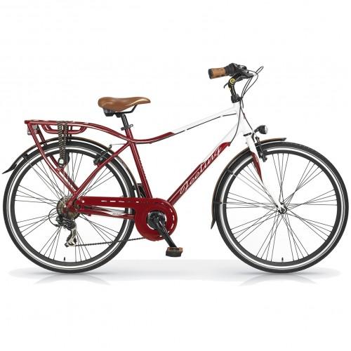 ΕΚΘΕΣΙΑΚΟ ΚΟΜΜΑΤΙ - Ποδήλατο Πόλης - MBM Feeling 28 ίντσες Ανδρικό 7 Ταχύτητες Κόκκινο - Λευκό 860U-15-EXB