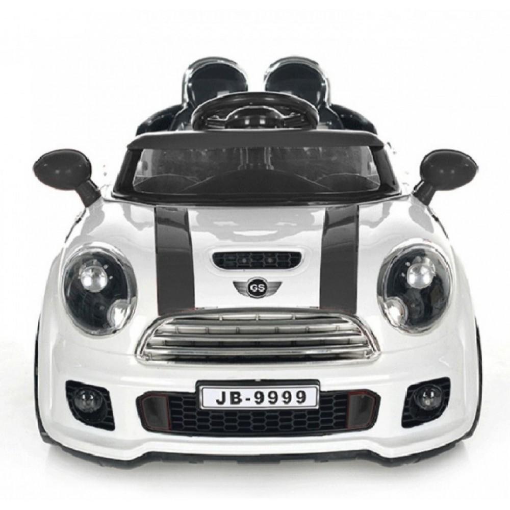 Ηλεκτροκίνητο Αυτοκίνητο τύπου Mini Cooper MP3 και τηλεχειριστήριο 12V λευκό 7088W