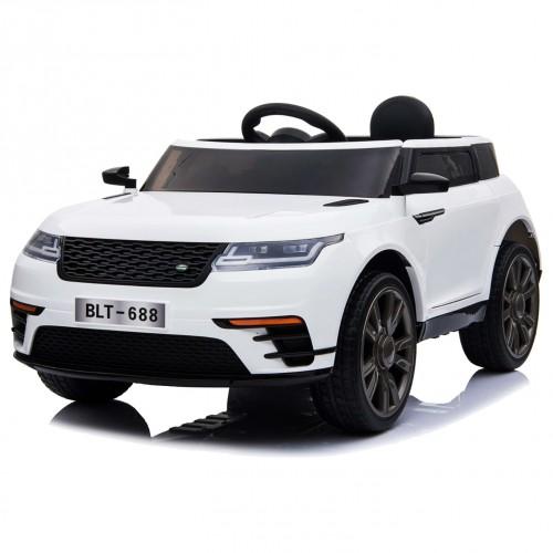 EXHIBITION MODEL -Electric child car Land Rover 12V White BJ688W-EXB