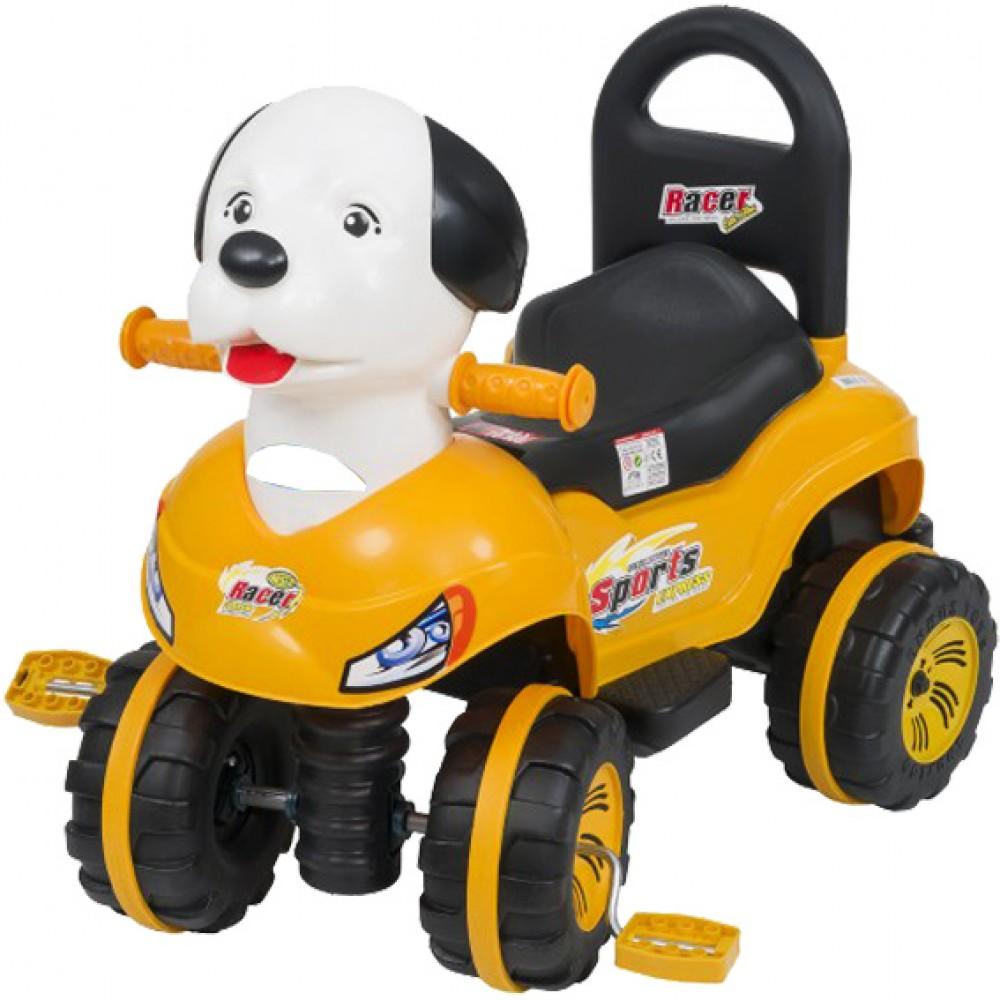Παιδικό Αυτοκίνητο Σκυλάκι με πετάλ Κίτρινο O-7351-YL