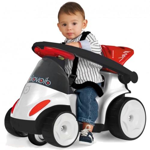 Ποδοκίνητό Diavolo 9 σε 1 με μπάρα καθοδήγησης Λευκό 182