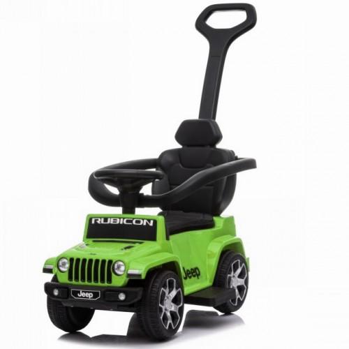 Ποδοκίνητο Αυτοκίνητο Jeep Wrangler Rubicon με μπάρα καθοδήγησης Πράσινο P03C-GRN