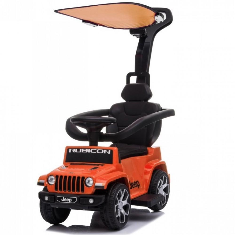 Ποδοκίνητο Αυτοκίνητο Jeep Wrangler Rubicon με μπάρα καθοδήγησης Πορτοκαλί P03C-OR