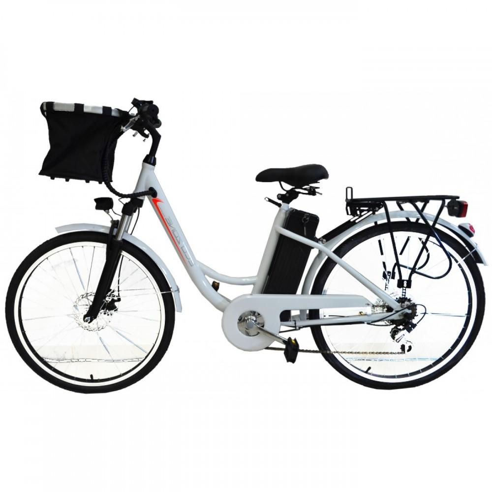 Eco-Bikes - Ηλεκτρικό Ποδήλατο 26 ίντσες  Λευκό E-bike BN015