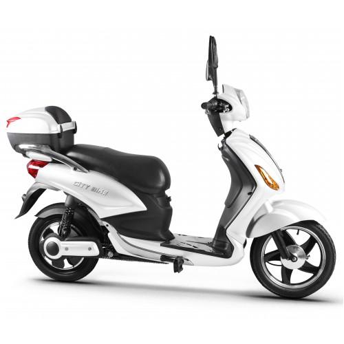 Ηλεκτρικό Moto-Ποδήλατο City Bike Λευκό 15194-WH