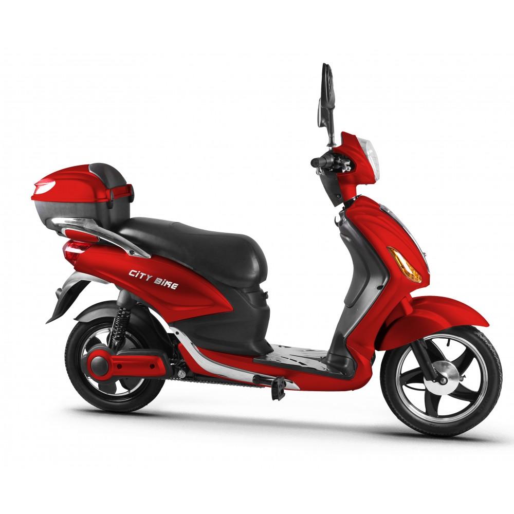 Ηλεκτρικό Moto-Ποδήλατο City Bike Κόκκινο 15194-RD