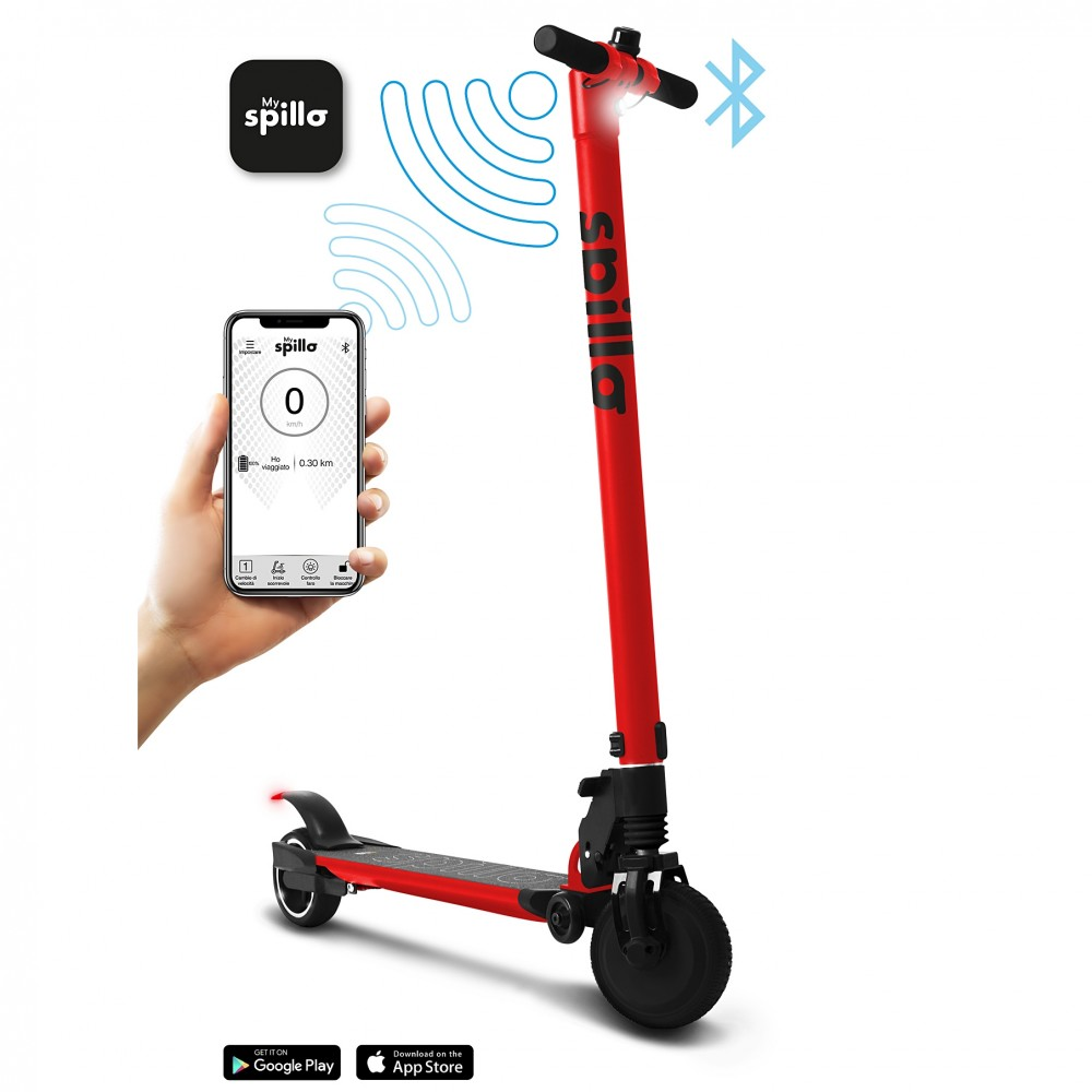 Icon.e - Electric E-Scooter Spillo with 250W and 23km/h Red 32000-RD