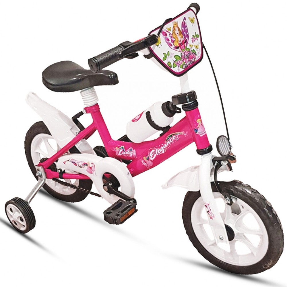Παιδικό Ποδήλατο - Elegance Girl 12 ιντσών Ροζ 122-12-PN