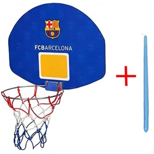 Παιχνιδολαμπάδα - Πλαστική Μπασκέτα FCBarcelona Μπλε με Δώρο Μπλε Λαμπάδα 825L
