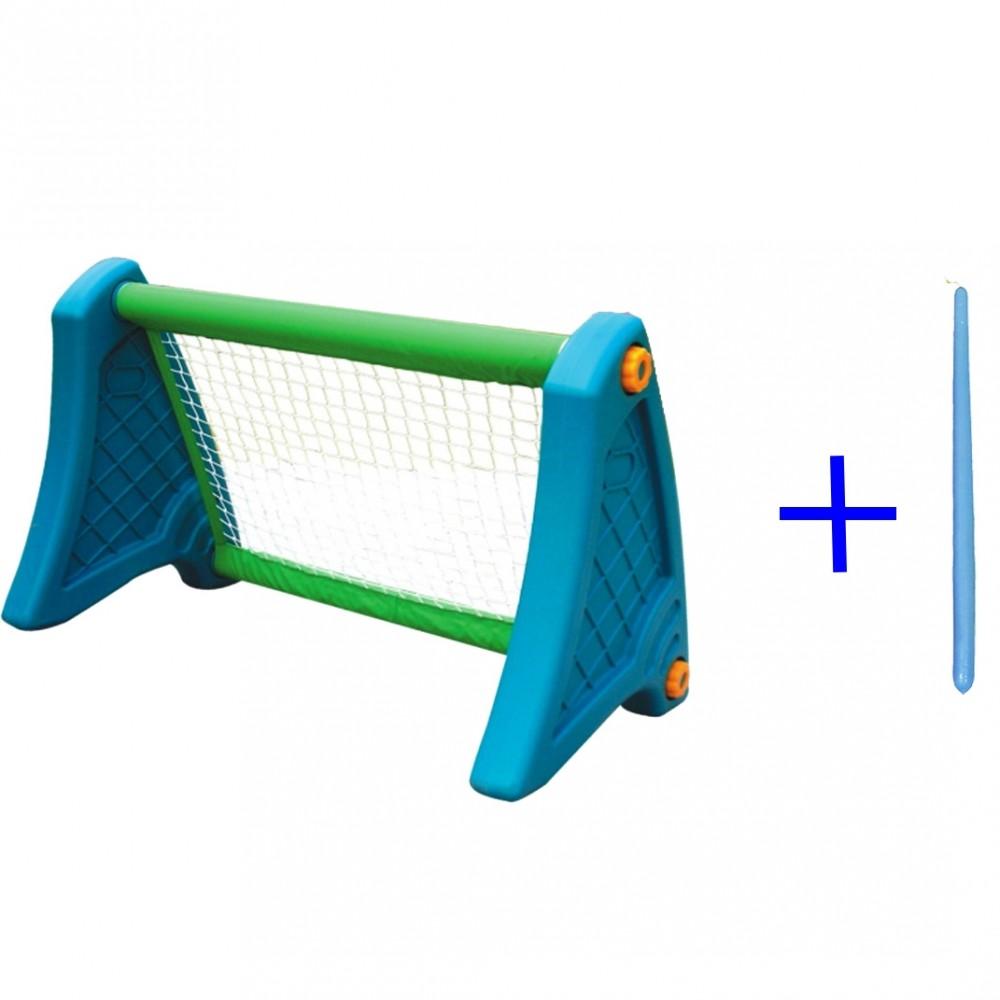 Παιχνιδολαμπάδα - Πλαστικό Ποδόσφαιρο Football Stand με δίχτυ Μπλε - Πράσινο με Δώρο Μπλε Λαμπάδα 0323L