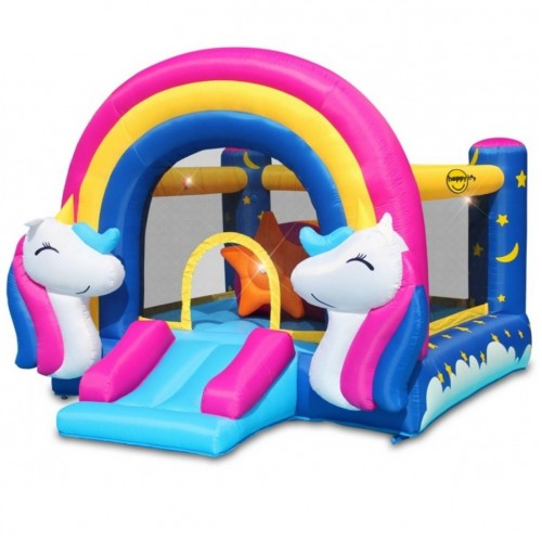 Happy Hop - Φουσκωτό Τραμπολίνο Fantasy Unicorn 8004