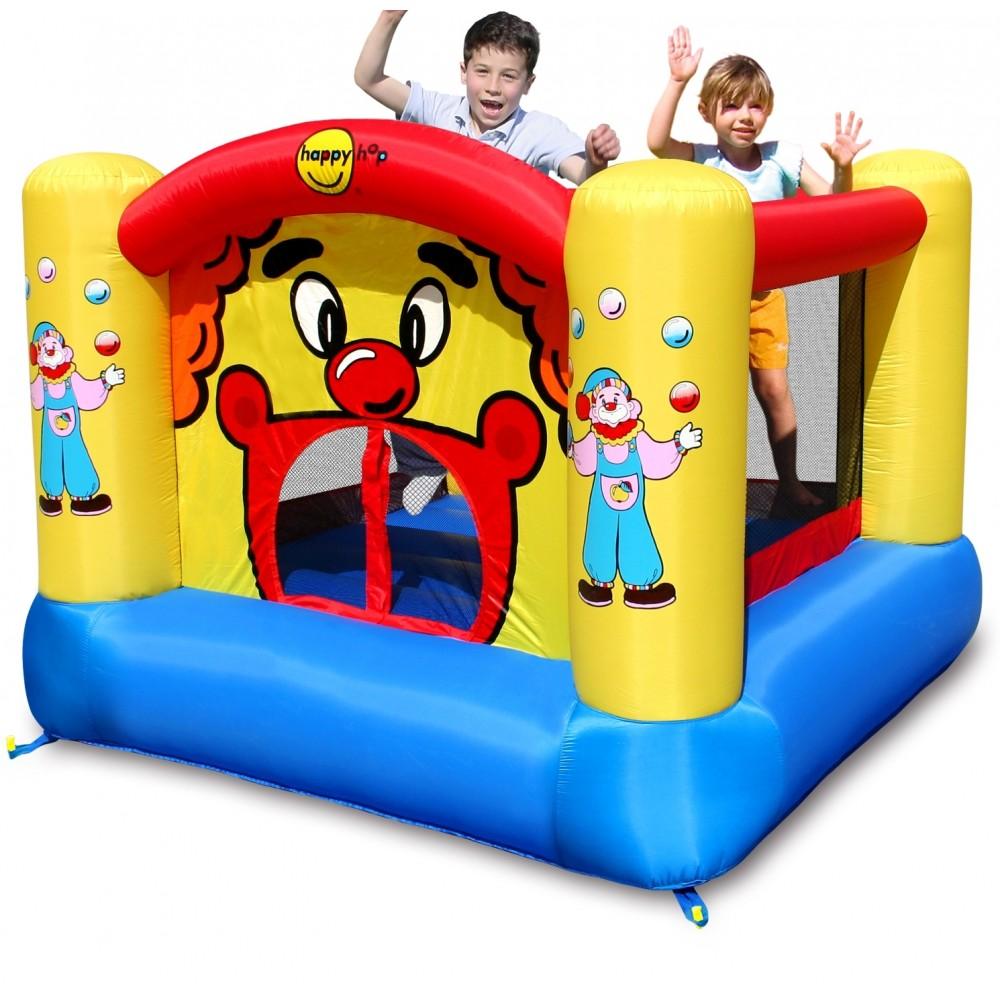 ΕΚΘΕΣΙΑΚΟ ΚΟΜΜΑΤΙ - Happy Hop Φουσκωτό Τραμπολίνο Clown Bouncy Castle 9001-EXB