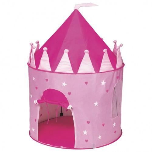Παιδικός Παιδότοπος Παιχνιδιού Queen Fun Play Tent Ροζ με Δώρο Ροζ Λαμπάδα LL664L