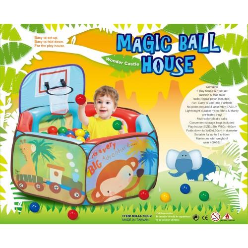 Παιδικός Παιδότοπος Παιχνιδιού Magical Ball House LL703-2