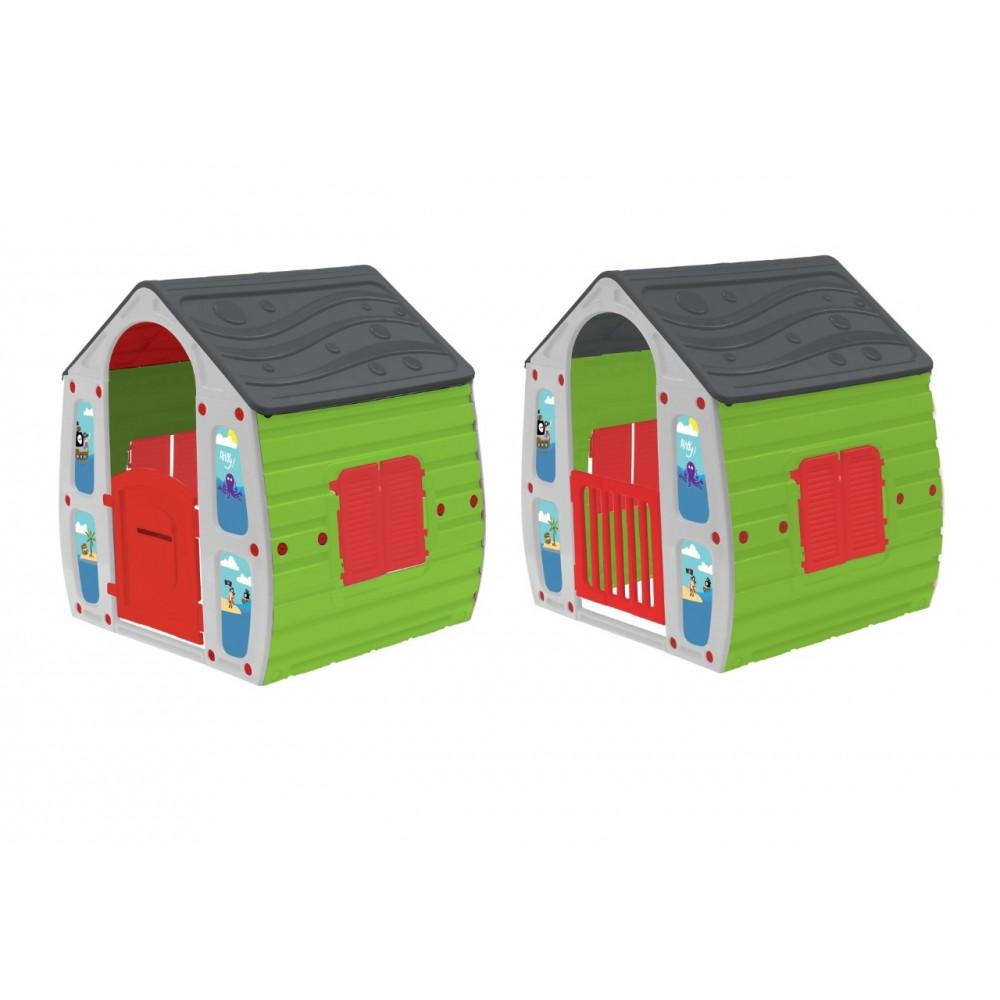 afc259404ccc StarPlay - Παιδικό Σπιτάκι Κήπου Magical House Γκρι - Πράσινο 10561