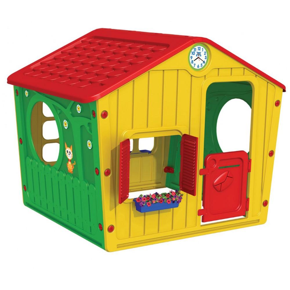 69a3c768aa64 StarPlay - Παιδικό Σπιτάκι Κήπου Galilee Village House Κόκκινο - Κίτρινο  01-561
