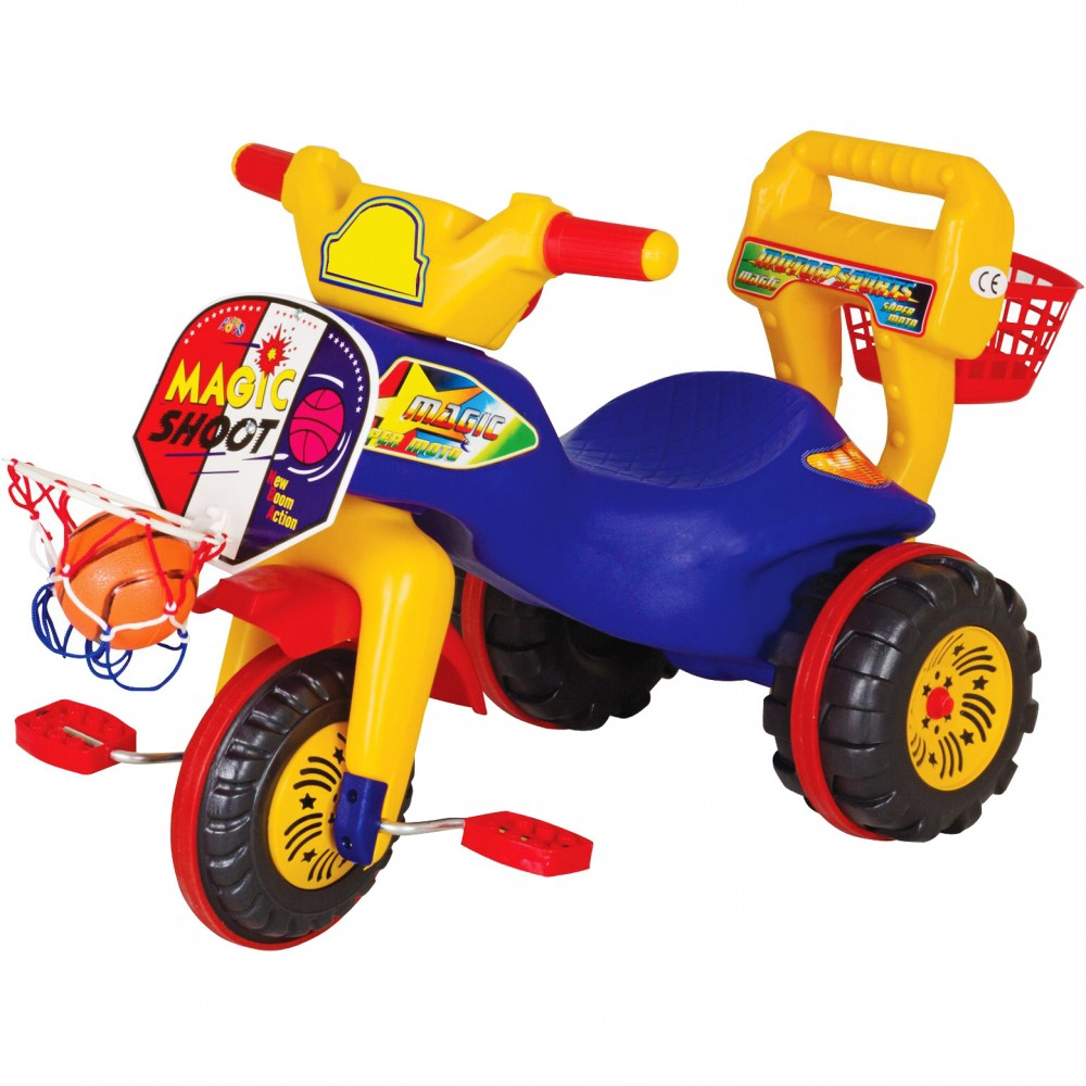 Παιδικό Τρίκυκλο Ποδήλατο Magic Shoot Μπλε 7068-BLU