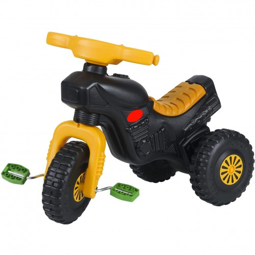Παιδικό Τρίκυκλο Ποδήλατο Magic Horse Μαύρο-Κίτρινο 7094-YL